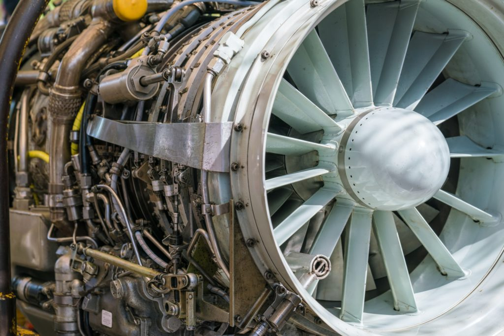 An airplane turbine ready to be repaired. What are teh limitations of cold spray? Cold spray is perfect for repairing aerospace components.