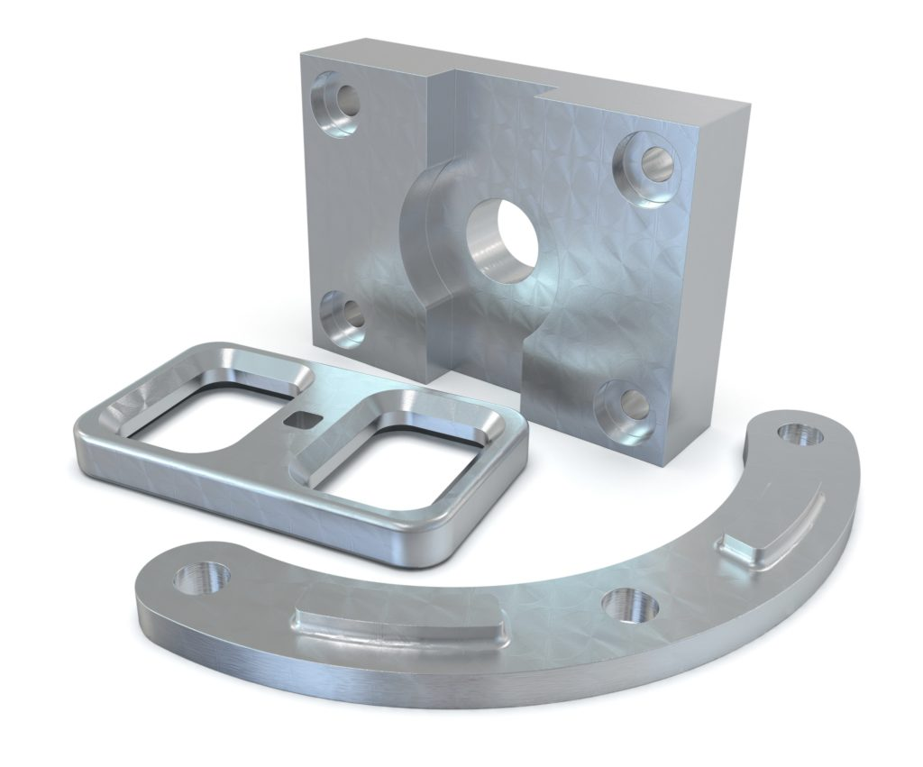 CNC milled parts as replacement parts for machines.